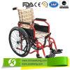 Удобная с ограниченными возможностями складная кресло-коляска с тормозом руки