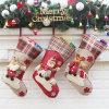 Bas promotionnel d'impression de peluche de Noël