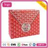 Bolso de compras rojo del diamante del papel blanco de la tarjeta