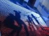 Farbenreicher Hochzeits-Dekoration-Vorhang des LED-Stern DJ-Anblick-Vorhang-P5
