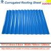建築材料の屋根ふきのシートによって電流を通される波形の鋼板