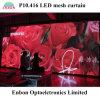 P10 LED pantalla LED transparente cortina para la etapa