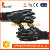 Ddsafety 2017 gants fonctionnants de sûreté d'interpréteur de commandes interactif d'enduit orange sans joint en nylon blanc de nitriles