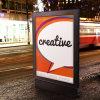 Алюминий двойные боковые рекламы блок освещения