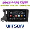 Witson gran pantalla de 10,2 de Android 6.0 alquiler de DVD para Honda City 2014 (Izquierda Driver)