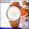 Reloj ocasional de la manera de la mujer del cuarzo del servicio de encargo (Wy-081D)