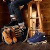 2017 новых ботинок хлопка зимы греют ботинки Мартин ботинок снежка замши сбор винограда тенденции людей ботинок Мартин