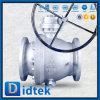 Delicado da válvula de esfera do aço do carbono de Didtek assentado com engrenagem de sem-fim 150lb