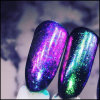 Scintillements de tache de clou de Holo DIY d'éclailles de chrome