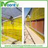 Gelber gewölbter Polycarbonat-grünes Haus-Stahlrahmen für Mittleren Osten
