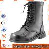 Ботинки воинской пользы армии кожаный с пальцем ноги утюга в черноте