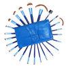 insieme di spazzole professionale blu di trucco 24PCS con capelli sintetici