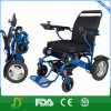 Todo el sillón de ruedas plegable de aluminio de la potencia del terreno para lisiado y los ancianos