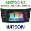 Witson Octa-Core (Eight Core) DVD de voiture Android 6.0 pour Mercedes-Benz E Class W211 2g ROM 1080P Touch Screen 32 Go ROM