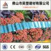 Polycarbonat-gewölbter Blatt blaue PC Plastikdach-Blatt für Autoparkplatz