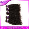 Kinky Afro mongol Curly Virgem Cabelo encaracolado do Pacote de 3 ponto de tafetá 100% de cabelo humano Prorrogação Kinky Encaracolado Cabelo Virgem Rosa Produtos de cabelo