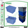 Plastic Stackable Turnover Box com Hinged Lids