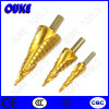 Pollice Size HSS Spiral Grooved Step Drills (4-32MM)