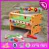 2015 новой моды DIY учебного средства игрушки, красочный деревянный ящик для инструментов игрушки для детей, горячая продажа деревянным инструментом игрушки для детей W03D055