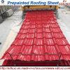 0.16-1.2mm Prepainted material de construção ondulado a folha de aço galvanizada da telhadura