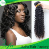 capelli umani del Virgin dell'onda profonda brasiliana di prezzi di fabbrica 7A 100%