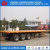 3 Flatbed Aanhangwagen van de Oplegger van de Container van de as 40FT 45t voor Verkoop