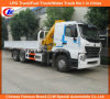 10 Rueda de camiones pesados de carga HOWO A7 con XCMG Crane 6ton
