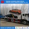 Één Aandrijving Drie Vrachtwagen van Wrecker van de Auto-carrier 10tons Flatbed Slepende