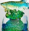 Art Glass Crafts / Glaze colorido / Liu Li Factory Outlets / Feng Shui Golden Fish