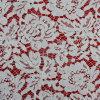 白い染まるレースファブリック綿織物の服ファブリック