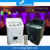 IGUALDAD sin hilos RGBWA+UV del transmisor 6PCS LED de DMX con la batería