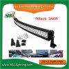 가벼운 LED 바가 있는 객차 차를 위한 크리 말에 의하여 구부려지는 LED 표시등 막대 50 인치 288W EMC Emark Offroad 표시등 막대