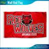100dポリエステルデジタル印刷の赤いオオカミの耐久のフラグ(J-NF01F09033)