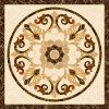 Tegel 1200X1200mm van de Vloer van het Kristal van het Tapijt van het Patroon van de bloem Tegel Opgepoetste Ceramische (BMP43)
