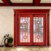 Porte en bois coulissante en verre d'entrée de salle de bains (GSP3-016)