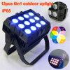La iluminación al aire libre portable vendedora loca 12*15W impermeabiliza la luz de la IGUALDAD, RGBWA impermeabiliza la luz impermeable de la IGUALDAD de la etapa de la luz ligera de la IGUALDAD IP65 de la IGUALDAD