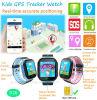 Téléphone de montre de traqueur des gosses GPS d'écran tactile avec la lampe-torche (D26)