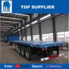 Du titan 3 de l'essieu 40FT de plate-forme de conteneur de semi-remorque de lit plat remorque semi