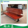 Banco de parque al aire libre de madera y del metal con el respaldo (FY-020X)
