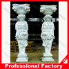 Carving di pietra White Marble Romano Column per Home Decoration