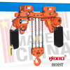 10 tonnes Double Chain Falls Electric Hoist avec Trolley