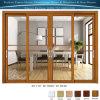 Алюминиевые зерна сандалового дерева двойные ручки боковой сдвижной двери с двойными стеклами