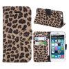 Магнитное iPhone 6 аргументы за Flip Stand Leopard Leather