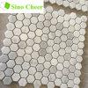 Плитки мозаики малого шестиугольника белые мраморный