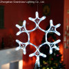 Indicatore luminoso decorativo dell'ornamento di natale dei fiocchi di neve del LED