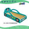 Modèle de voiture de dessins animés de l'école en bois massif lit avec Mickey Mouse (HG-6306)