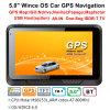 Percorso marino di GPS del camion dell'automobile di vendita 5.0 della fabbrica  con il sistema di percorso di GPS di Wince 6.0, FM, avoirdupois che parcheggia macchina fotografica posteriore, navigatore di GPS che segue antenna, Bluetooth