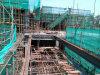 現代高層ビルの鉄骨構造の構築