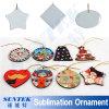 Diverse Ornament van Kerstmis van Vormen het Sublimatie Met een laag bedekte Afdrukkende Lege Ceramische