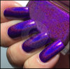 21606 de holografische Purpere Kunst van de Spijker van de Spijker van de Laser schittert het Poeder van het Stof